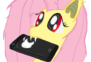 Flutter Bat and Apple I-Phone My little Pony by sallycars