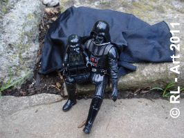 Darth Vader and little Vader by reiner67