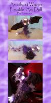 Amethyst Wyvern Posable Art Doll by Eviecats