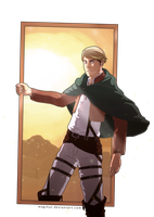 Erwin Smith SnK - Step in by Magihat