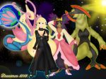 Pokemon Champions, Cynthia and Iris by DannimonDesigns