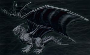 Dragon, side view, wings by MKounelakis