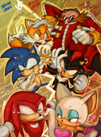 Team Sonic vs Team Dark by missyuna
