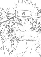 Obito Lineart by kimlien