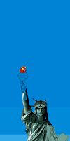 Incomplete Statue Of Liberty Pixel Art by skcin7