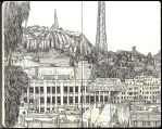 Sketchbook - Hollywood from the my hotel room by keiross