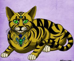 Egyptian Cat 2 by MischievousPooka