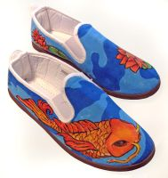 koy fish canvas shoes by FadomLord