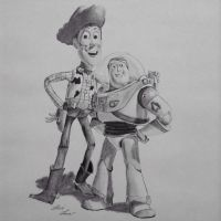 Woody And Buzz by TheLawDraws