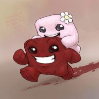Meat Boy and Bandage Girl by DrJavi