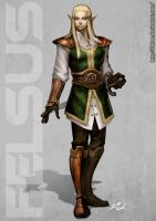 White elf Male by Felsus