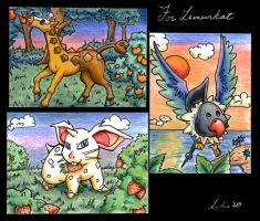 Art Cards for Lemurkat by Sharulia