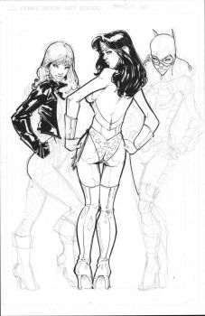Commission DC Girls Inks WIP by rantz