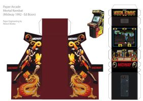 Papercraft Arcade : MK by NelsonRobles