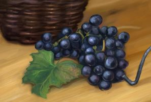 Still life  of Study Grapes by charfade