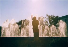 Barcelona - Statue and Fountain by nftadaedalus