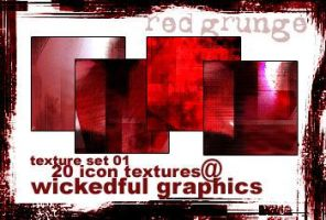 Red Grunge Icon Textures by torngemini