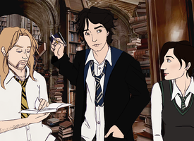 Black Books Hogwarts AU by DeaDiscordia