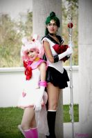 Chibiusa and Setsuna from sailor moon by Yunnale