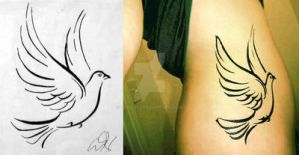 Dove Design - Tattoo by fe4rless