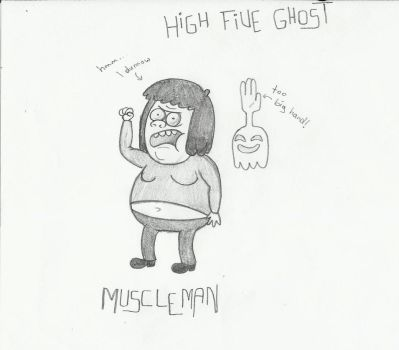 Muscleman and High Five Ghost by Hiwi