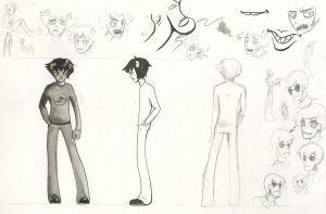 Karkat and Other Studies by Vouloir-chan