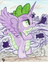 Spike: The Princess of the Gak by TheHarmonicDeviant