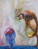 The Monkey and the Jellyfish by GregoryStephenson