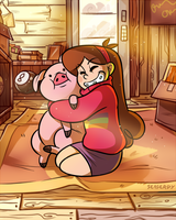 Mabel and Waddles by SeaGerdy