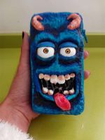 Blue monster 3D mobile case by anapeig