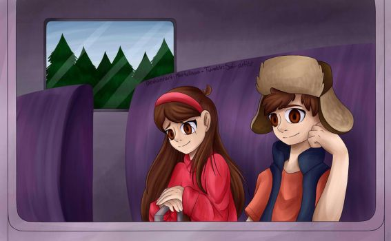 Leaving Gravity Falls Re-draw by Martulinaa
