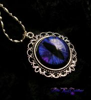 Gothic Purple - Large Silver Dream Setting Pendant by LadyPirotessa