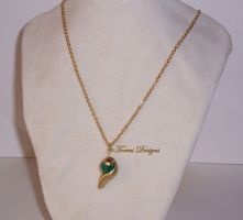 Kokiri Emerald Necklace Legend of Zelda OoT OOAK by TorresDesigns