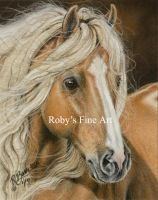 """Palomino Gypsy"" - Realism by robybaer"