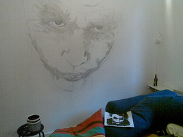 Joker Wallpainting - WIP I by Ruubski