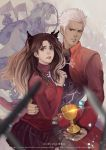 Fate Stay Night Archer and Rin by HarryYong