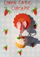 carrot cupcake by MotherMayIjewelry