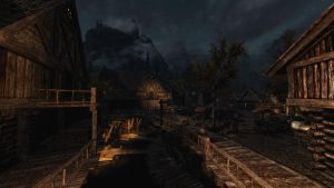Early Evening in Riften RCRN 3.5 by lupusmagus