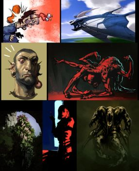 Speedpaintings by DavidSequeira