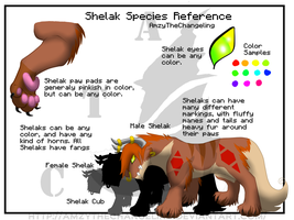 Shelak Species Reference by AmzyTheChangeling