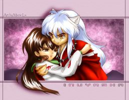 Inuyasha and Kagome upset-ish by mree