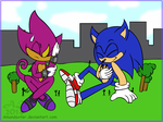 Giant Sonic and Espio -PC- by Amandaxter