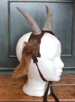 Brown Goat Horns and Ears by lupagreenwolf