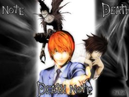Death Note Wallpaper by Kamio-Tenshi