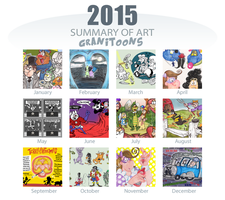 Granitoons Summary of art 2015 by Granitoons