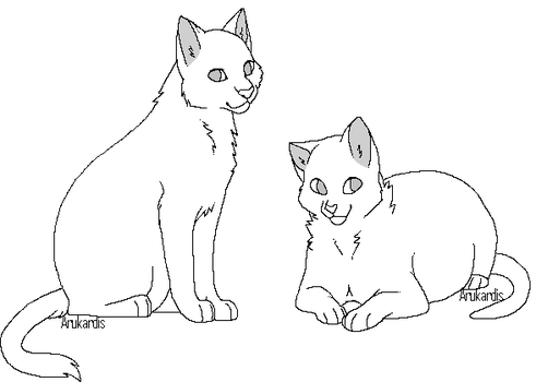 Free Cat Linearts by Arukardis