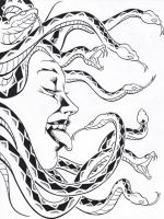 Medusa 2 pencils and inks by His-Highness