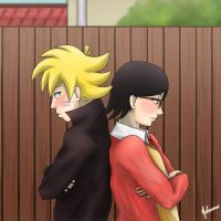 Boruto Uzumaki and Sarada Uchiha by nelsonaof