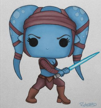 Aayla Secura Pop Vinyl by halfpennyro04