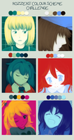 Color meme with Fangame protagonists! by FrancescaBandicoot